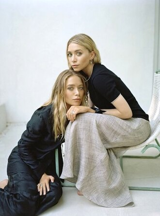 skirt maxi skirt olsen sisters mary kate olsen ashley olsen blouse