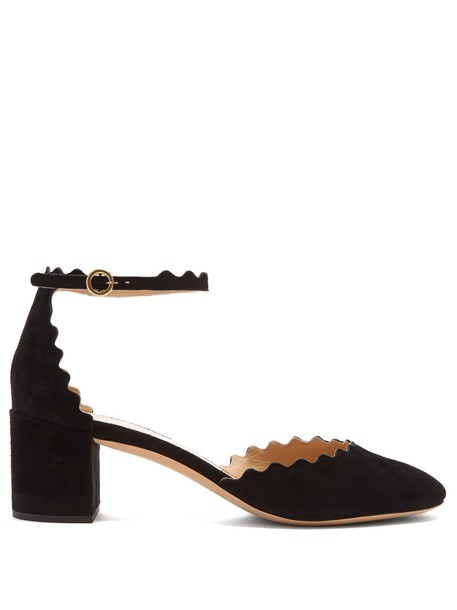 suede pumps pumps suede black shoes