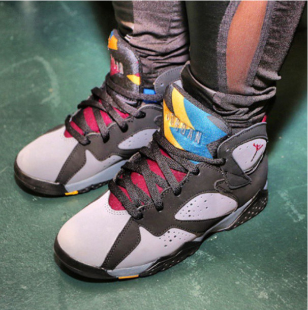 71c8afcbae shoes, girl, nike, jordan7s, jordans, air jordan, multicolor ...