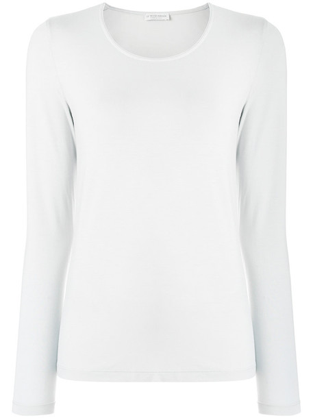 Le Tricot Perugia - longsleeved T-shirt - women - Elastodiene/Viscose - XL, Grey, Elastodiene/Viscose