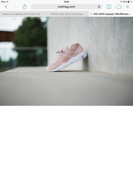 ba3e5a80e1d shoes baby pink sneakers puma trinomic