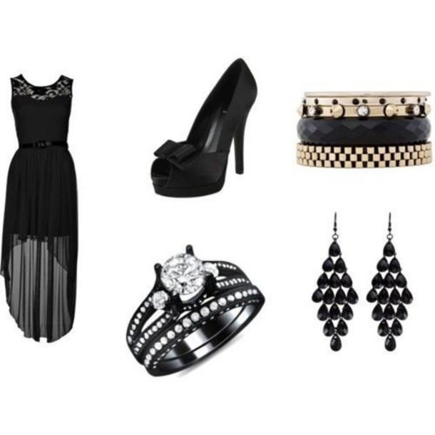 dress high low dress black dress