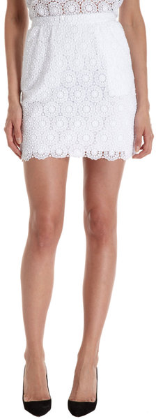 Dolce & gabbana lace mini skirt in white