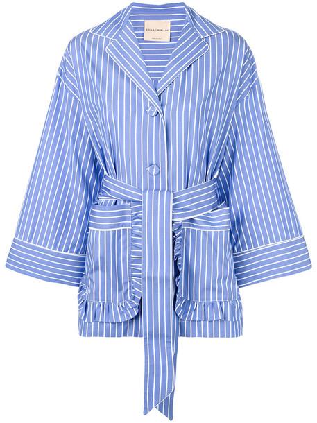 Erika Cavallini shirt women cotton blue top