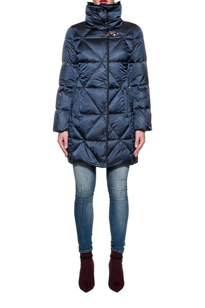 FAY jacket down jacket long quilted blue