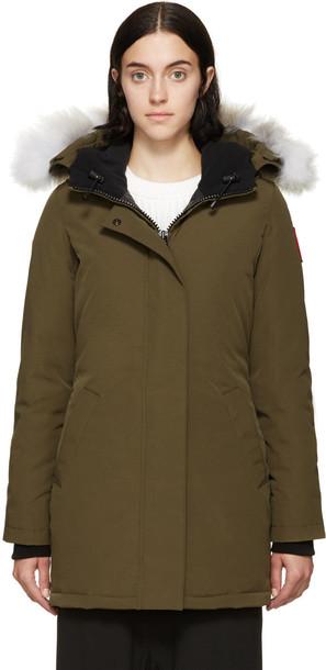 canada goose parka green coat