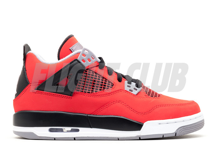 "air jordan 4 retro (gs) ""toro bravo"" - fire red/white-black-cmnt grey - Air Jordans  