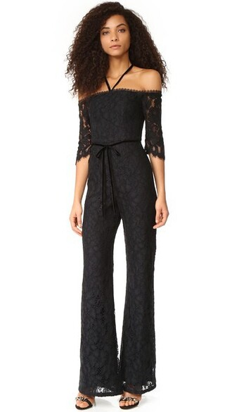 jumpsuit lace black black lace