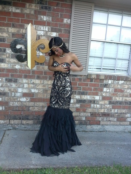 dress prom dress champagne dress black