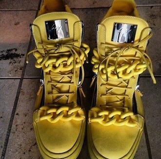 sneakers yellow giuseppe zanotti