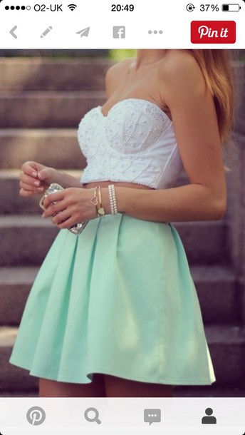 skirt skater skirt mint green skirt mint summer outfits spring skirt