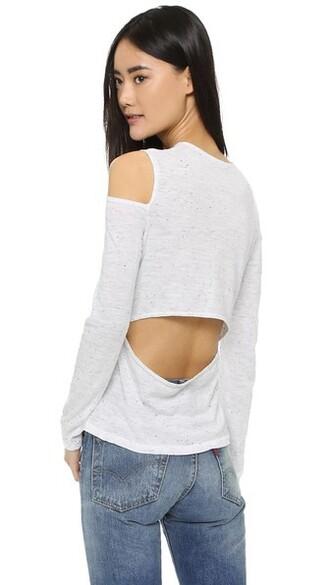 back open open back white top