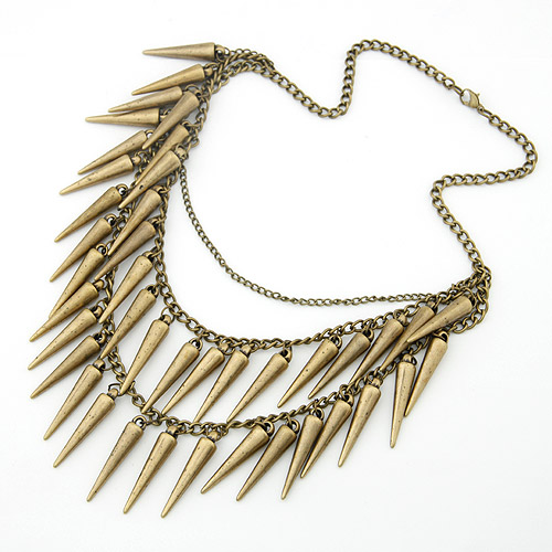 Fashion Women Antique Spike Choker Gothic Statement Vintage Party Necklace Sale | eBay