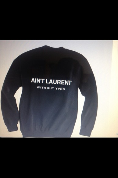 sweater yves saint laurent black girls yves saint-laurent