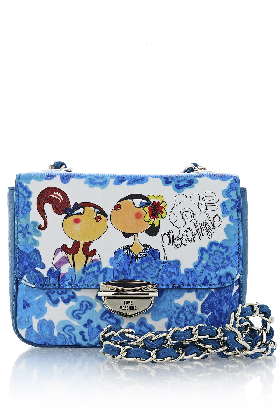 LOVE MOSCHINO FLORENTINA Small Azzurro Bag - ACCESSORIES | BAGS | SHOULDER BAGS | Day | PRET-A-BEAUTE.COM