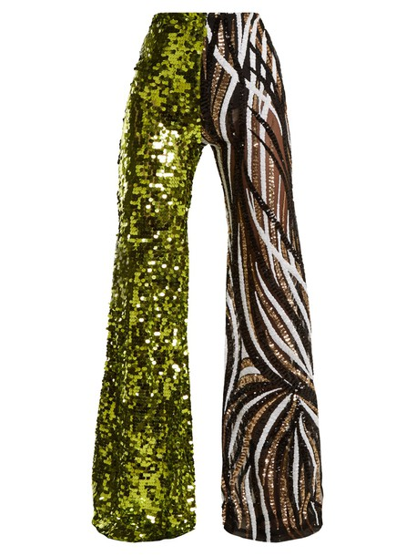 HALPERN high embellished green pants