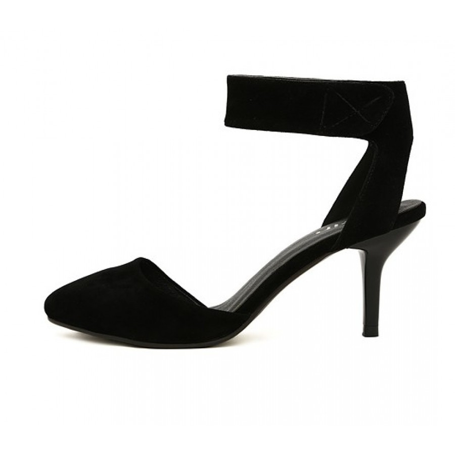 Thick Ankle Strap Heels - Is Heel