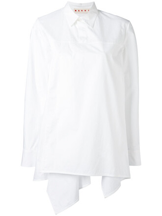 shirt women white cotton top
