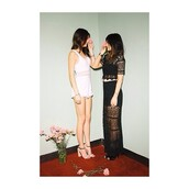 dress,kendall jenner,kylie jenner,kendall and kylie,sisters,beautiful,omg girlz,wow,romper,white,black,black prom dress,shorts,tank top,shoes,skirt,kardashians,jewels,jewelry,kylie jenner jewelry,kendall and kylie jenner,bracelets,stacked bracelets,keeping up with the kardashians,black lace skirt,lace,long,crop tops,shirt,lace top,lace skirt,black crop top,crop,two-piece