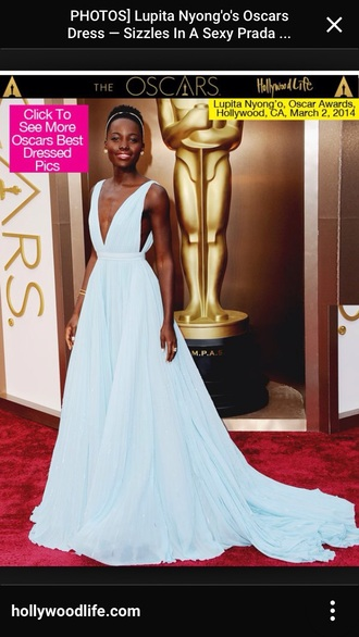 prada light blue lupita nyong'o gown