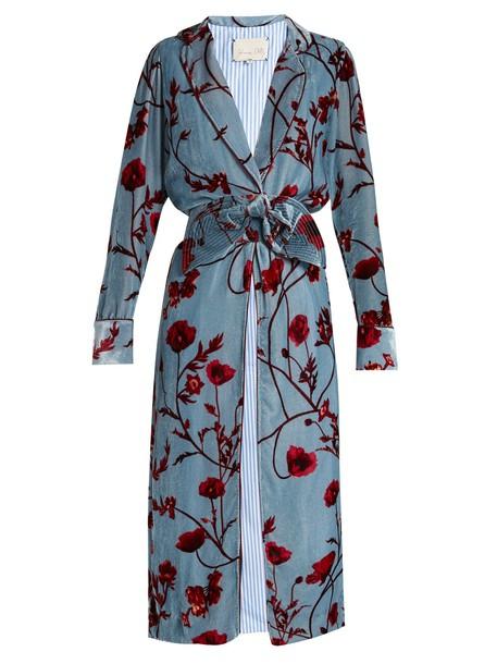 Johanna Ortiz coat velvet blue