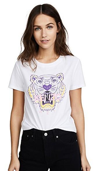 t-shirt shirt classic tiger white top