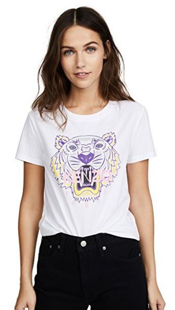 Kenzo t-shirt shirt t-shirt classic tiger white top