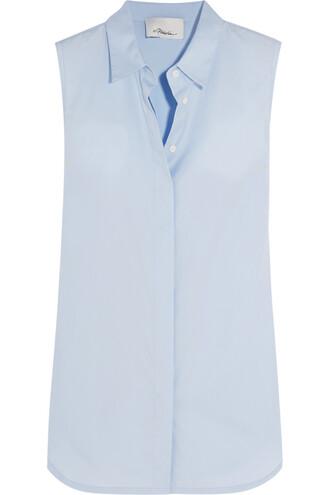 shirt cotton blue sky blue top