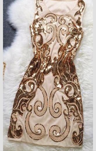 gold gold sequins vintage homecoming dress