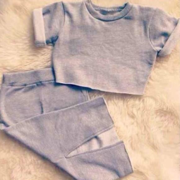 top cotton style fashion blouse grey dress bottoms that match? skirt sweater/sweatshirt sweatshirt where did u get that