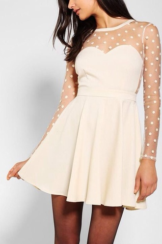 dress white polka dot short