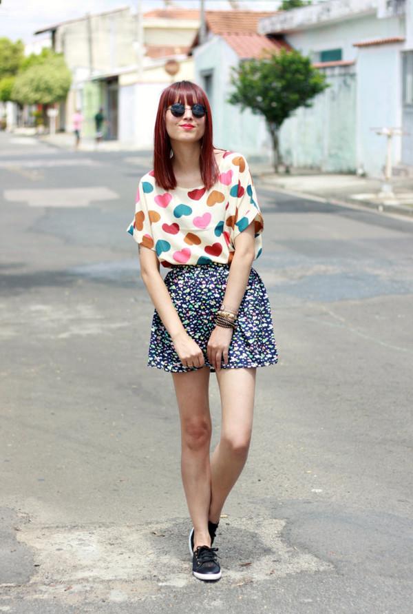 my name is glenn shirt skirt sunglasses jewels