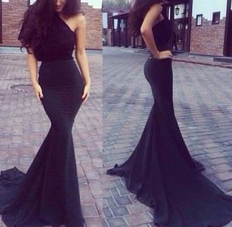 dress black dress long dress tight