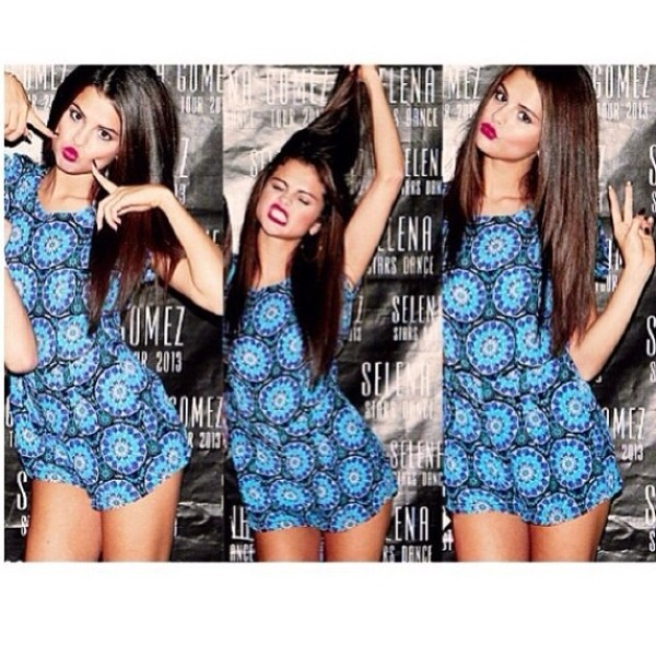 dress blue dress selena gomez blue