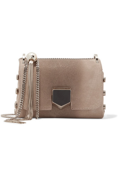Jimmy Choo mini bag shoulder bag suede beige