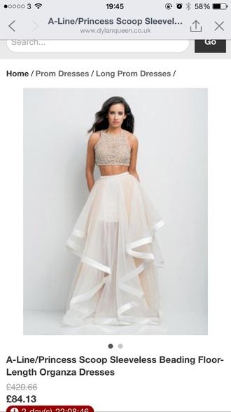 dress long prom dress two piece prom dresses