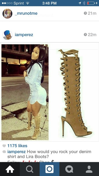 shoes tan knee high gladiator sandals high-heels shoes