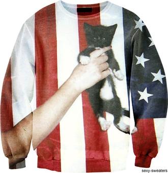 sweater american cat cats