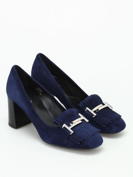 Tods suede dark blue dark blue shoes