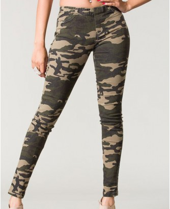 Veda Soul Turn Up Camouflage Shoes for Women
