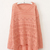 Pink Geometric Eyelet Embellished Knit Jumper Sweater on Luulla