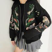 jacket,itgirl shop,36683,kfashion,korean fashion,fashion,tumblr,southkorean,ulzzang,streetstyle,aesthetic,clothes,apparel,kawaii,cute,women,indie,grunge,pastel,kawaiifashion,pale,style,online,kawaiishop,freeshipping,free,shipping,worldwide,palegoth,soft grunge,softgoth,minimalist,inspiration,outfit,itgirlclothing,bomber jacket,embroidered jacket,embroidered bomber,plants embroidey