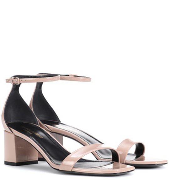 Saint Laurent sandals leather sandals leather beige shoes