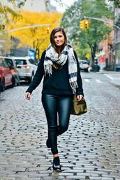 to be bright,blogger,pants,sweater,shoes,scarf,bag,fall outfits