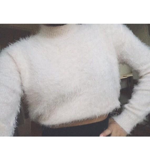 sweater fuzzy sweater