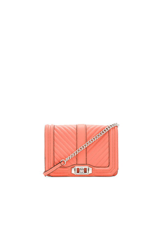 love quilted bag chevron coral