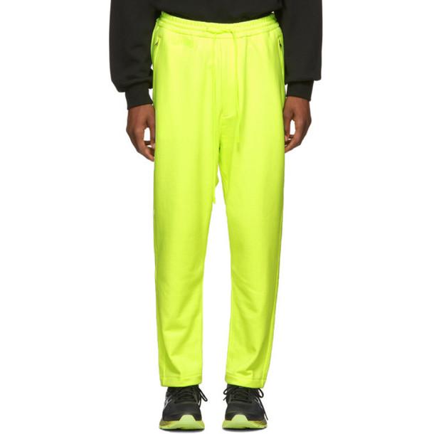 Juun.J Yellow 'Lapped' Lounge Pants
