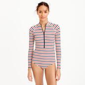 swimwear,one piece swimsuit,stripes,patterned swimwear,surf,j crew