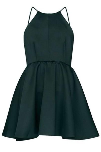 2096e7c05a0 black dress spaghetti strap short dress black dress homecoming dress  homecoming dress forest green dress emerad