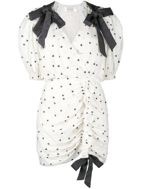 Zimmermann dress heart women nude cotton silk